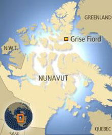 of canada located in the high arctic on ellesmere island