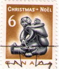 The Inuit Carving Illustrated On 6 Cent Christmas Stamp Issued November 15 1968 Was Carved By Mannumi Shaqu Cape Dorset Baffin Island