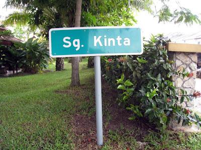 Sungai Kinta/Kinta River's Signboard