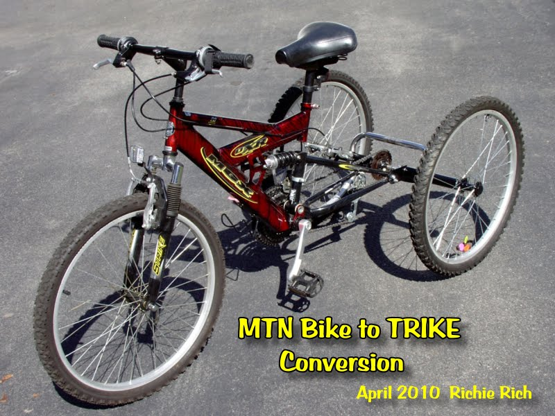 Bikes To Trikes Mountain bike trike conversion