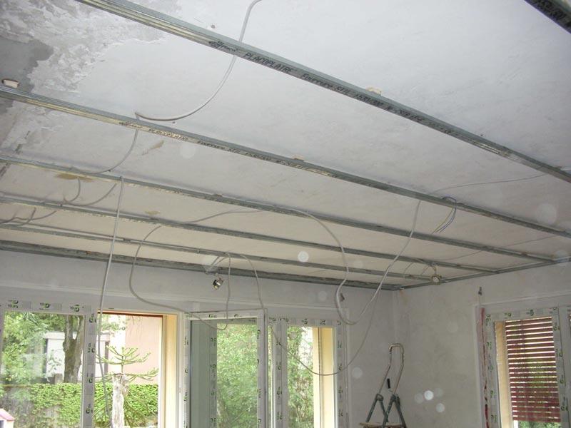 R novation de ma villa faux plafonds du rez de chauss e for Spots au plafond