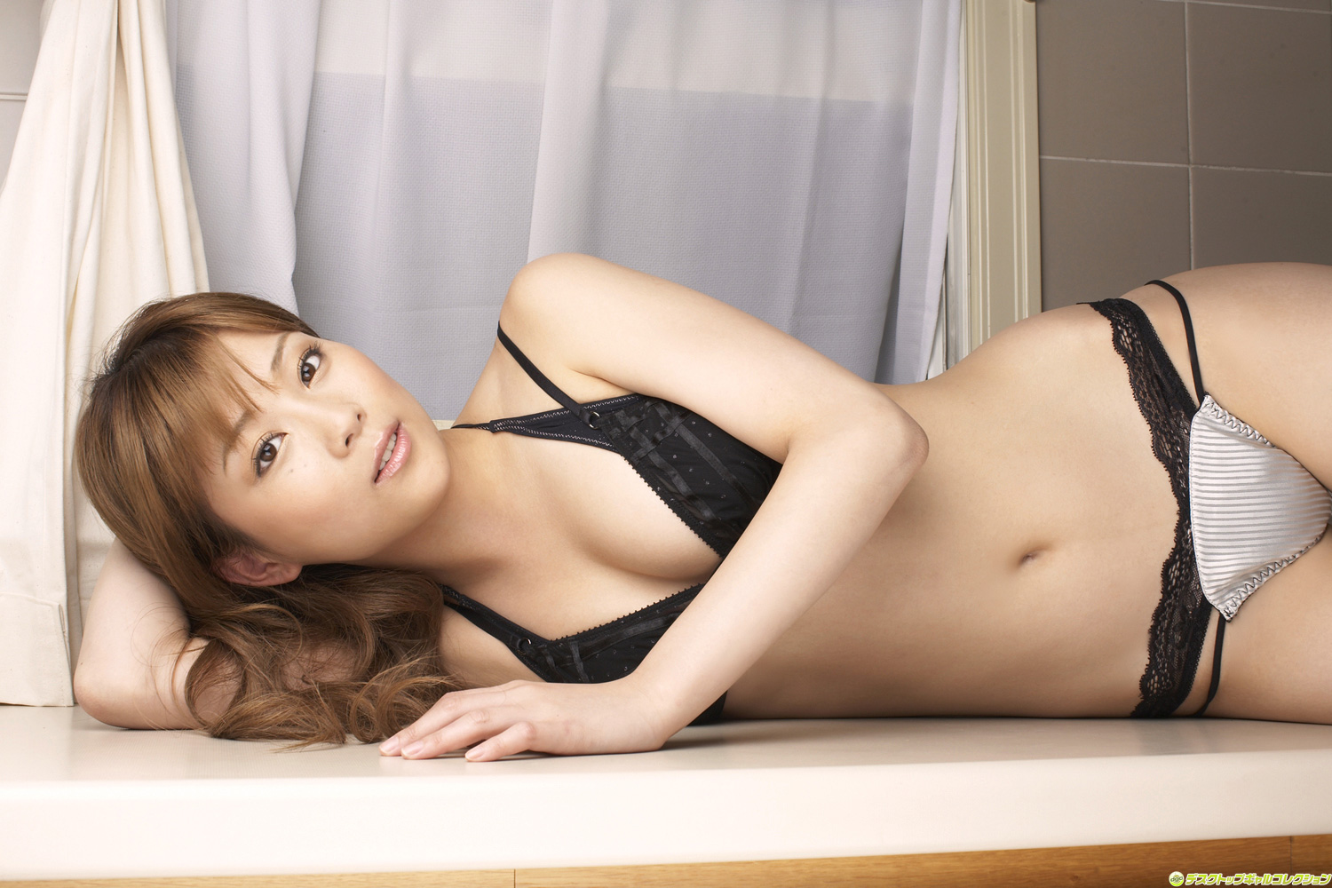 Aoi in the kitchen sink her big tits oiled up and squeezed b 6