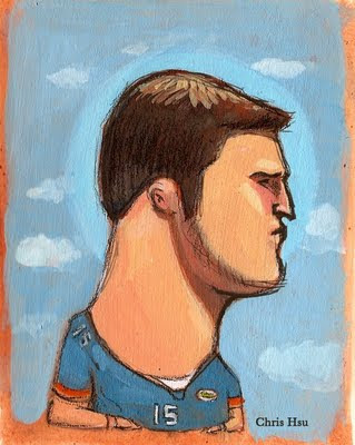 tim tebow gators illustration chris hsu