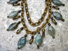 LABRADORITE BEADS AND BRASS..