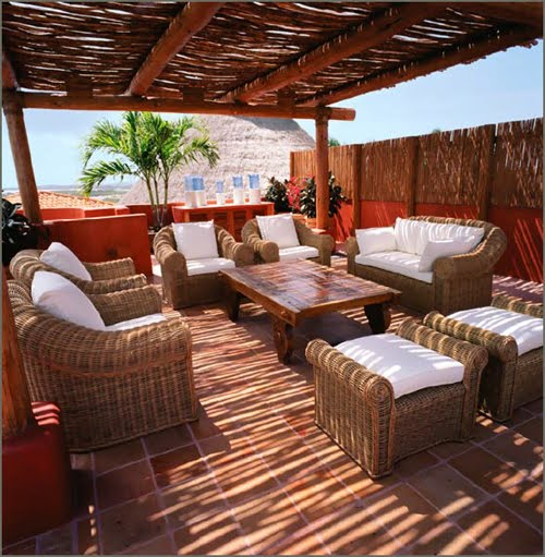 Estilo rustico patios rusticos caribenos de villas y resorts for Patios rusticos