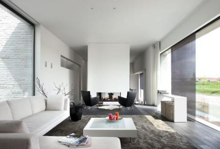Casas minimalistas y modernas livings blanco puro for Idee casa minimalista