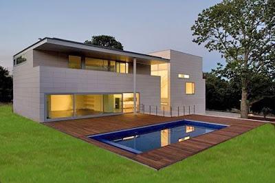 Casas minimalistas y modernas fachadas minimalistas for Construcciones minimalistas