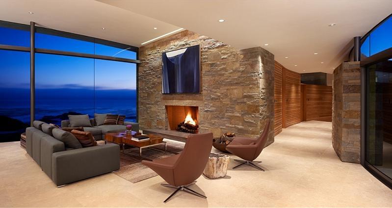 Casas minimalistas y modernas nuevas paredes de piedra en - Piedra para interiores ...