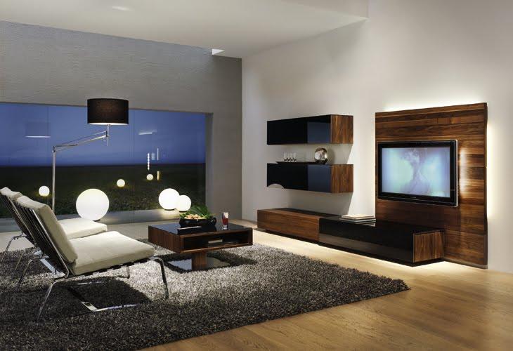 Casas minimalistas y modernas living de team7 for Living muebles modernos