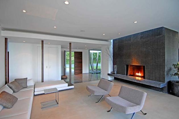 Casas minimalistas y modernas hogares modernos - Chimeneas minimalistas ...