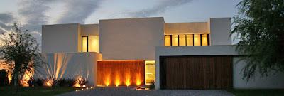 Casas minimalistas y modernas iluminacion de fachadas - Iluminacion casas modernas ...