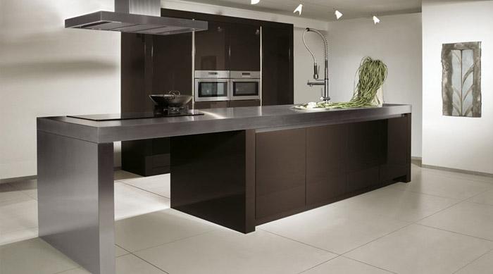 Casas minimalistas y modernas las cocinas con isla de rotpunkt - Islas cocinas modernas ...