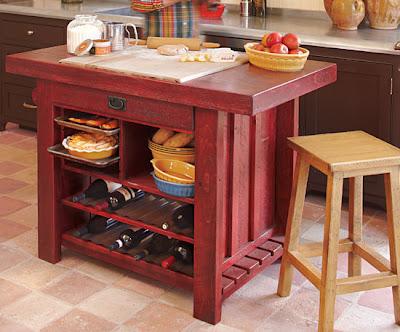 Estilo rustico islas rusticas para las cocinas - Mesas de cocina madera rustica ...