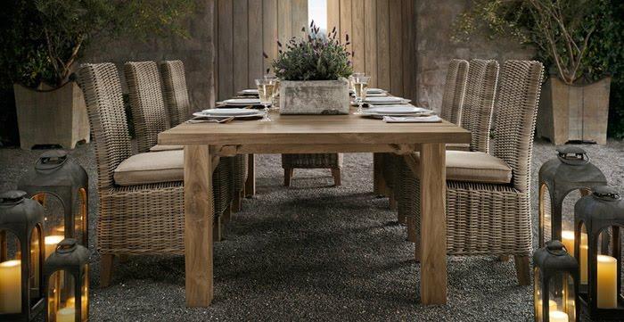 Estilo rustico mobiliario para jardines rusticos - Mobiliario para jardin ...
