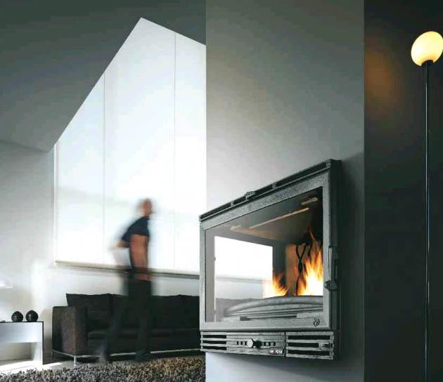 Casas minimalistas y modernas estufas de le a empotrables - Estufas de lena modernas ...