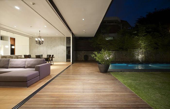 Casas minimalistas y modernas livings extendidos for Casa minimalista living