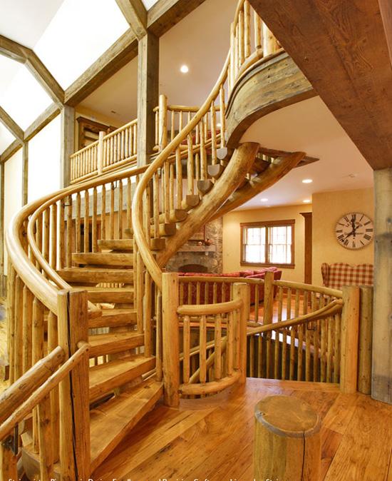 Estilo rustico mas escaleras for Escaleras interiores casas rusticas
