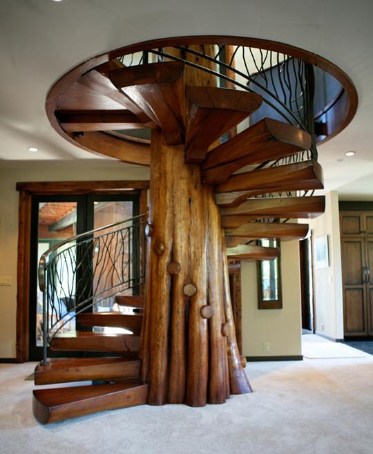 Estilo rustico mas escaleras for Fotos de escaleras rusticas