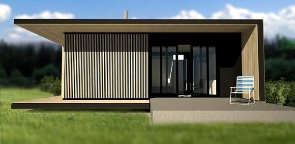 Casas minimalistas y modernas prefabricadas modernas for Casas prefabricadas minimalistas