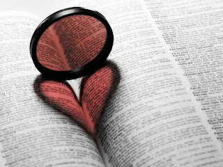 Heart in The Book HQ Stock Photos