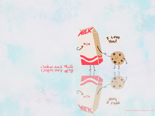 Cookie and Milk Love Vector Wallpapers