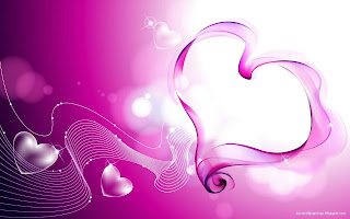 Pink Love Hearts Smoke wallpaper