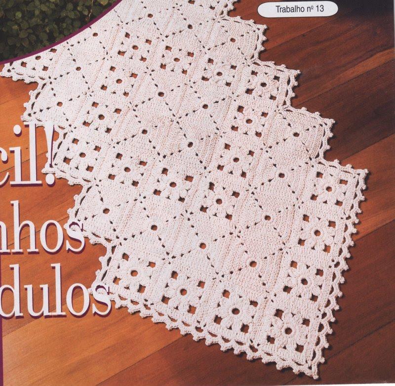 Ateliê Martha Farineli: Trilho de mesa de crochet em barbante