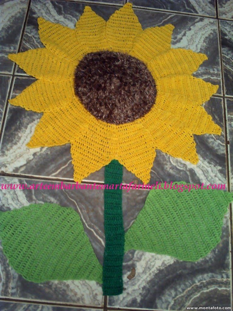 Tapete Flores Croche Barbante Banheiro Decorado Genuardis Portal Picture to P -> Banheiro Decorado Flor