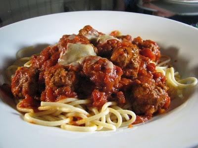 ... 'challenges' on Taste was this recipe for Meatballs in Tomato Sauce