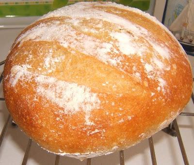Pan artesanal sin amasado (pain artisanal sans pétrissage)