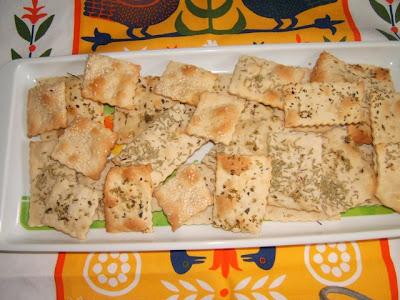 Mini crackers caseros / Mini crackers fait maison