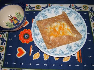 Crêpes salados con harina de trigo integral