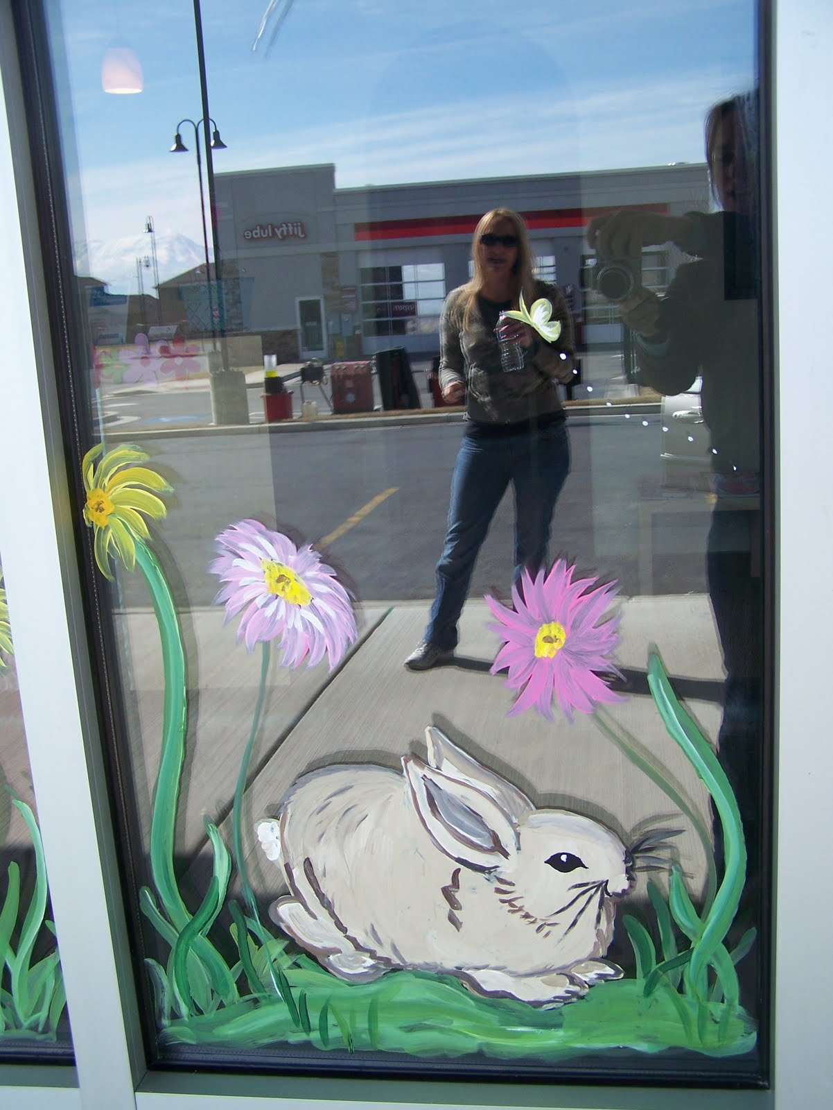 Spring window painting - Misc Window Paintings From Different Holidays And Seasons