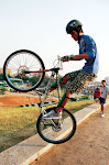 Cambodia's lone man on the freestyle cycling scene