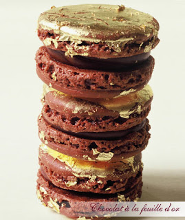 chocolat a lafeuille d or macaroons courtesy Laduree website