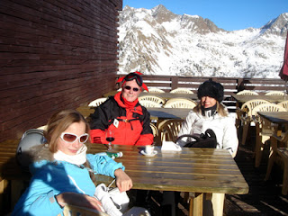 lunch on the mountain side, Isola 2000