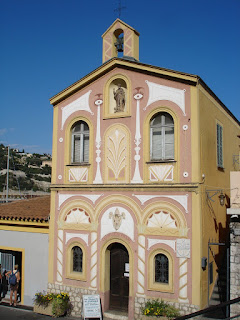 Chapel St Pierre, Villefranche, decorated by Jean Cocteau, 2 euros entry, not Mondays or lunchtime