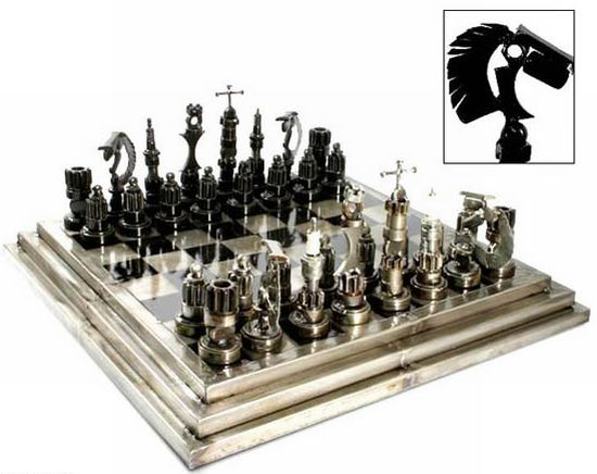 The Auto Parts Chess Set Is Made By Designer Armando Ramirez Using NGK And  AC DELCO Spark Plugs And Spare Parts. The Precision In Providing The  Metallic ...