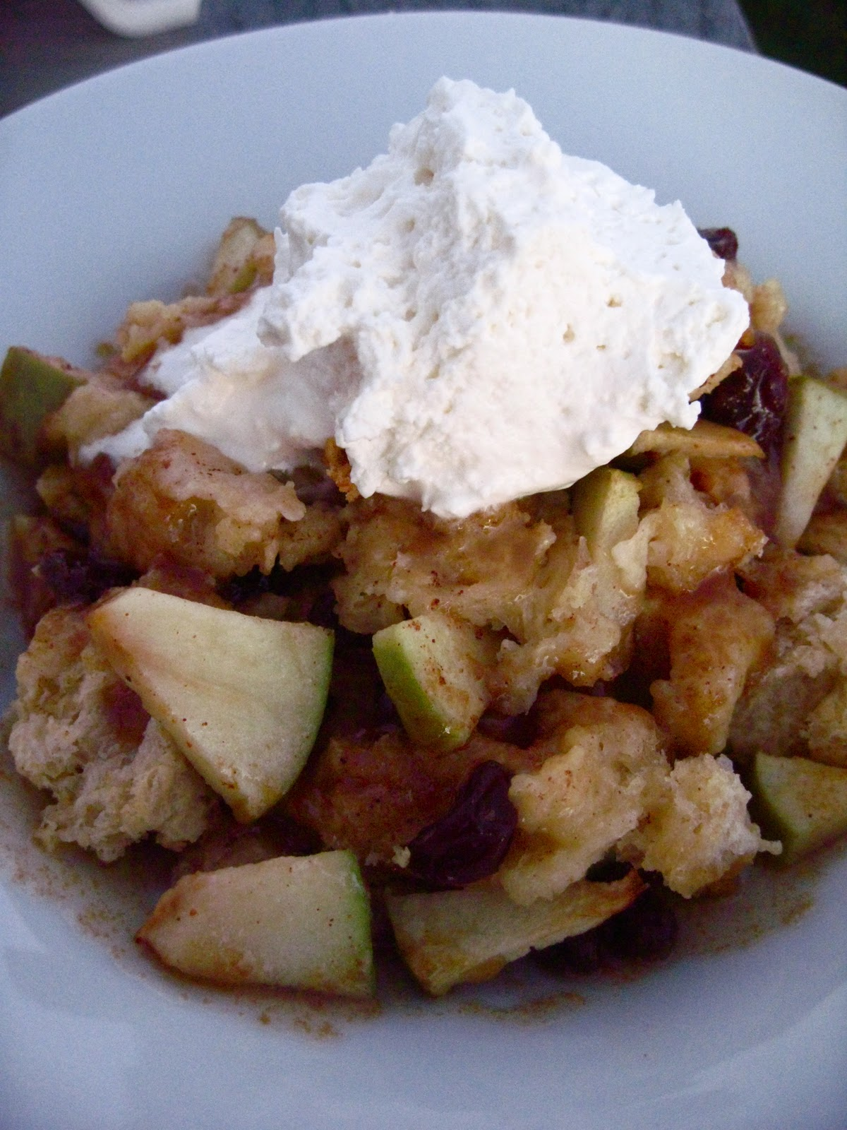 Apple Raisin Bread Pudding with Maple Caramel Sauce - Your Cup of Cake