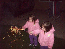 Hmmm....who gave the 2 year olds sparklers?  What a blast they were having!