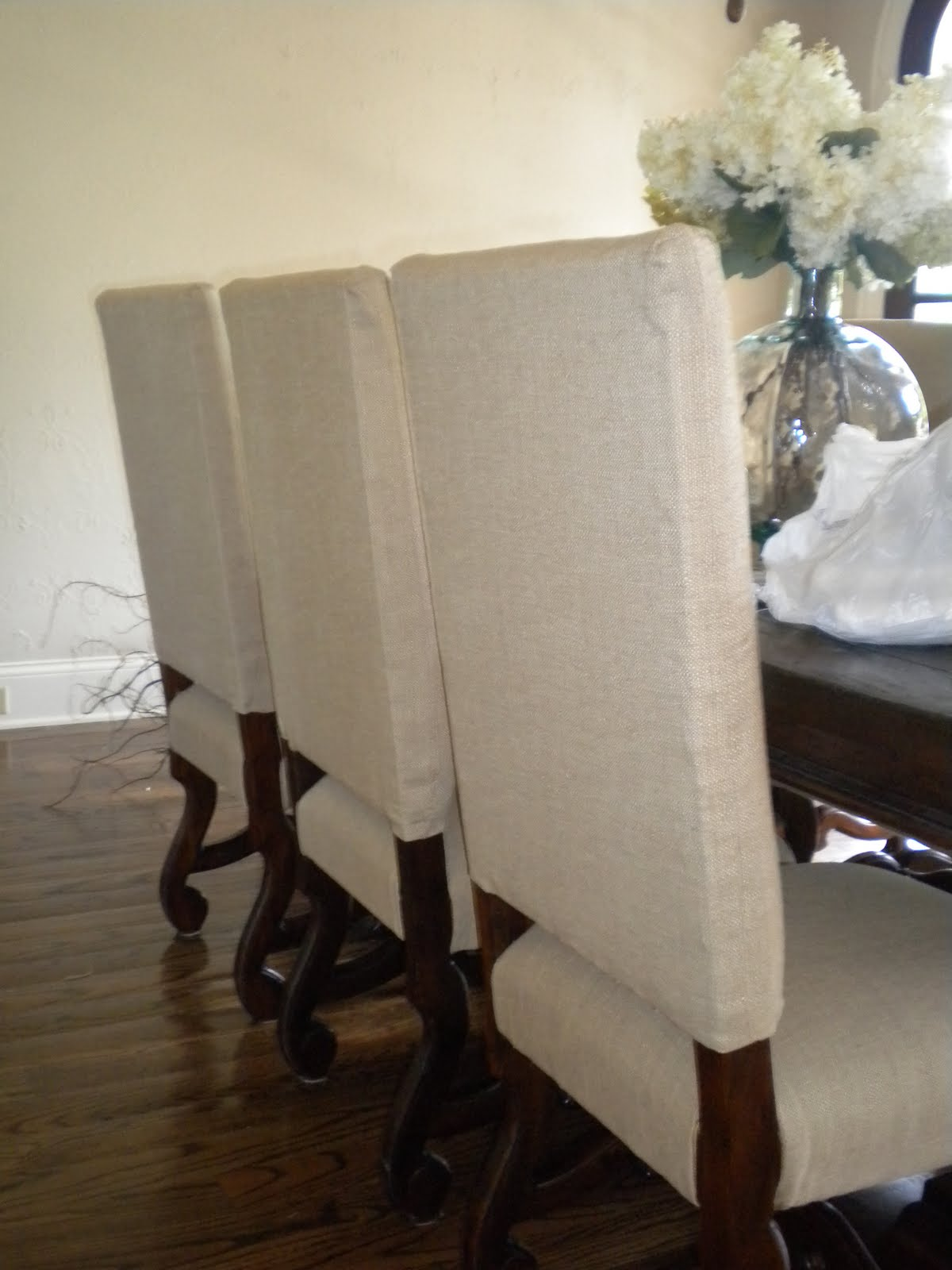 Custom sewing amp interior redesign large reupholstered dining chairs
