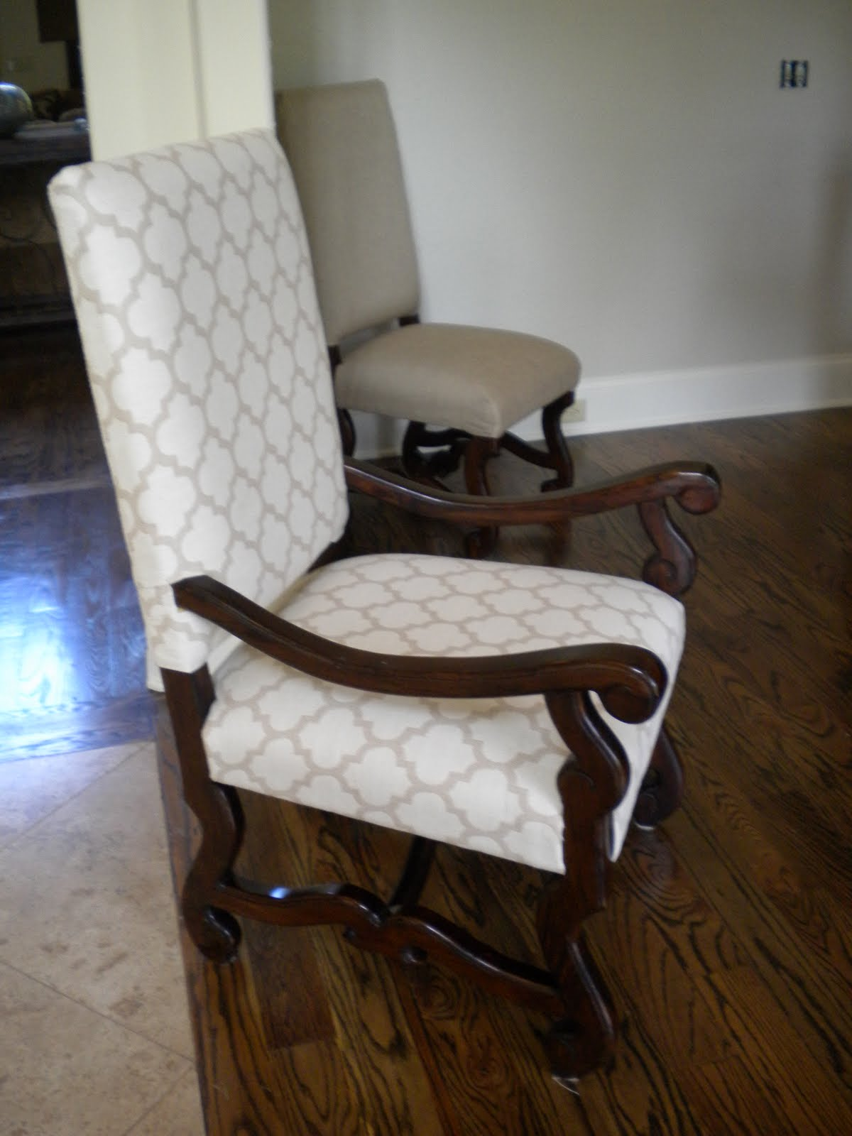 The material girl custom sewing interior redesign for Large dining room chairs
