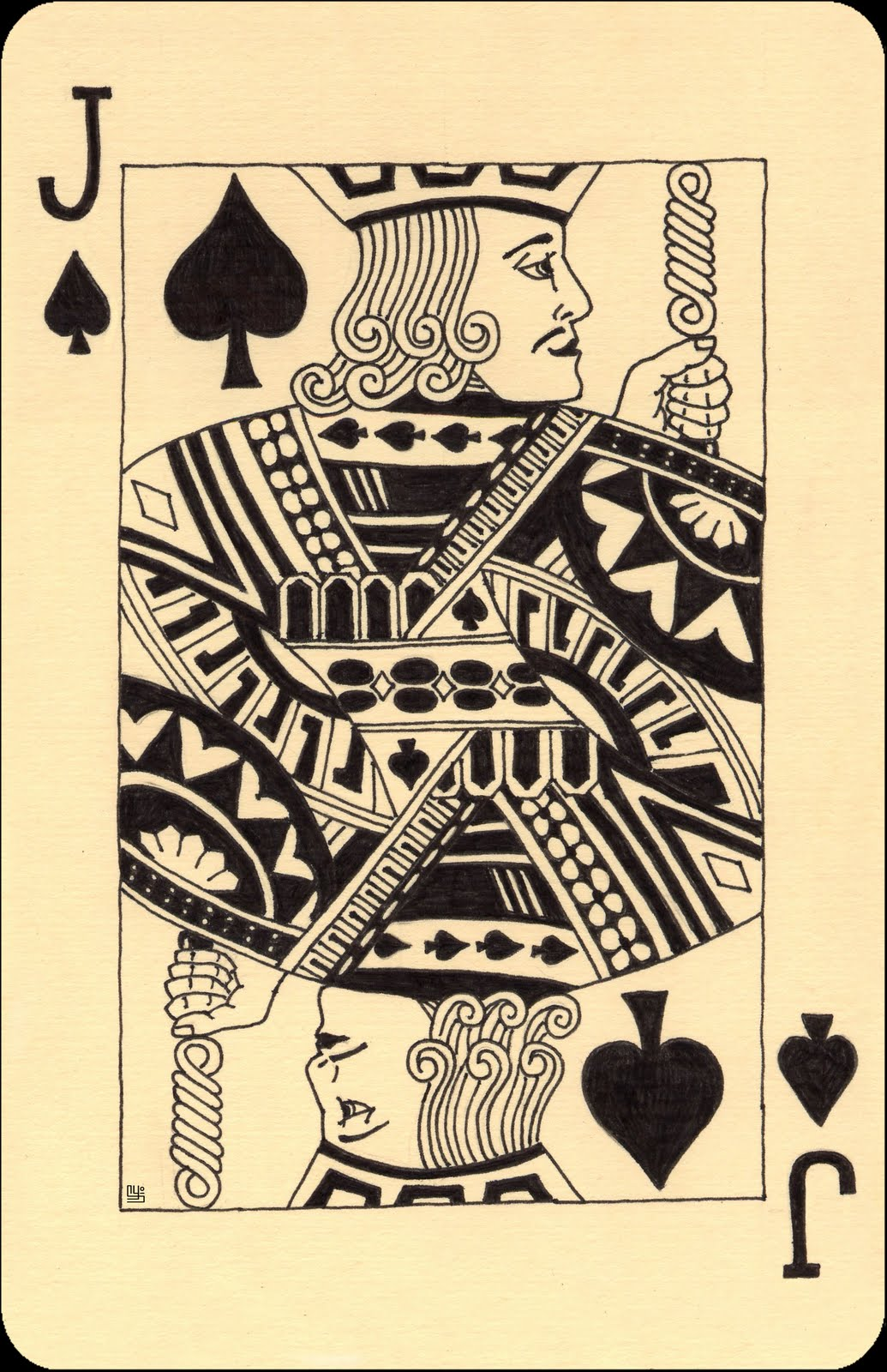 King Of Diamonds Card Tattoo