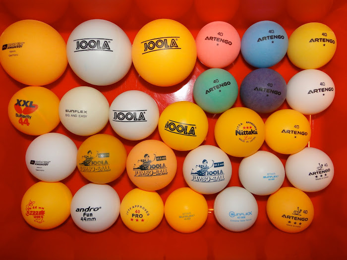 balls: 55, 44 and 40mm