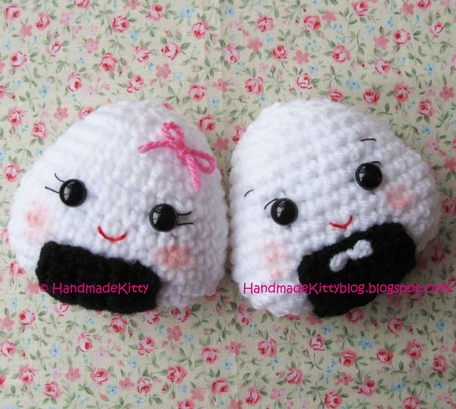 Amigurumi Kawaii Free Patterns : HandmadeKitty: FREE Onigiri Couple Amigurumi Crochet ...