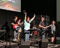 A worship band