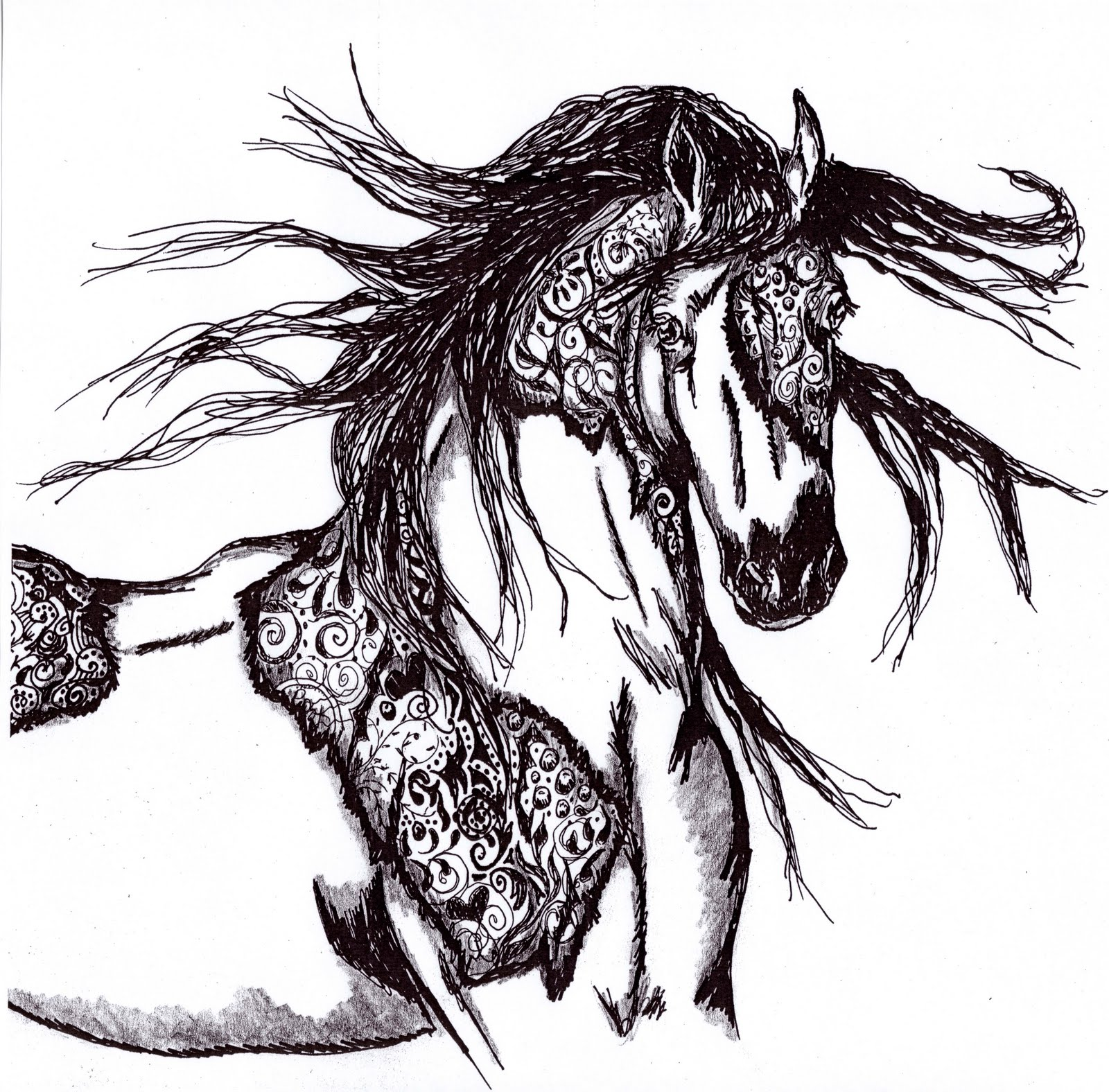 1000 images about zentangled animals horse on pinterest zentangle horse head and horses. Black Bedroom Furniture Sets. Home Design Ideas