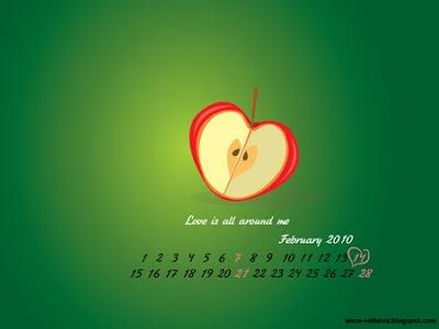 обои для рабочего стола с календарем: яблоко
