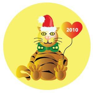Картинка тигра к Новому 2010 году
