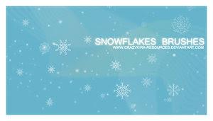 Новогодние кисти для Photoshop:снежинки